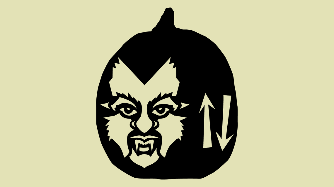 Illustration of Werewolfgang Pauli Pumpkin