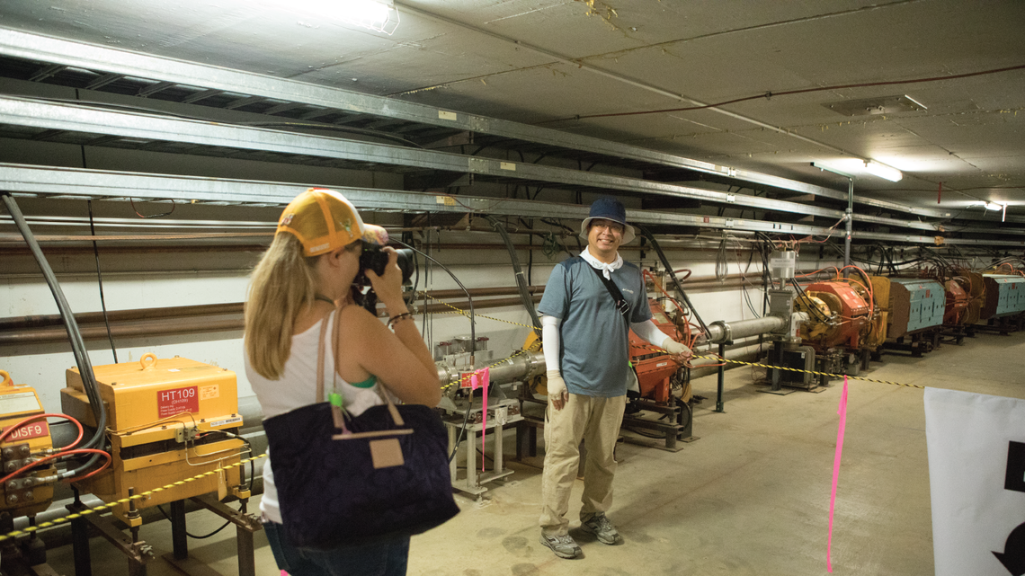 The coolest place on site was in the underground tunnel that houses the Muon Delivery Ring and beamline for the Muon g-2 and Mu2
