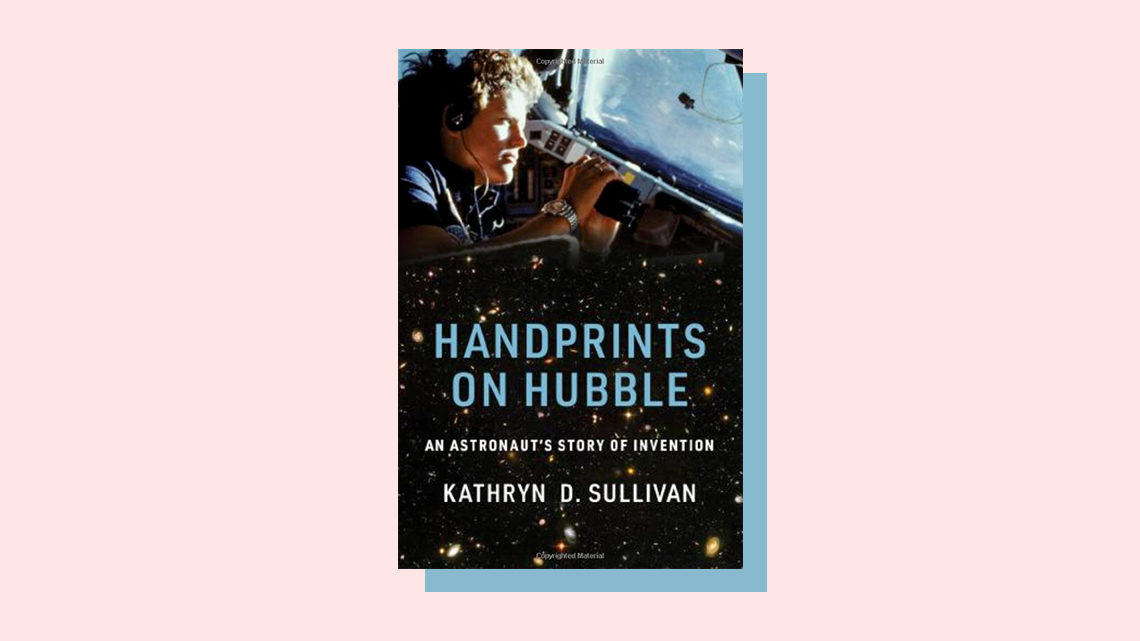 """Handprints on Hubble"" book cover by Kathryn D. Sullivan"