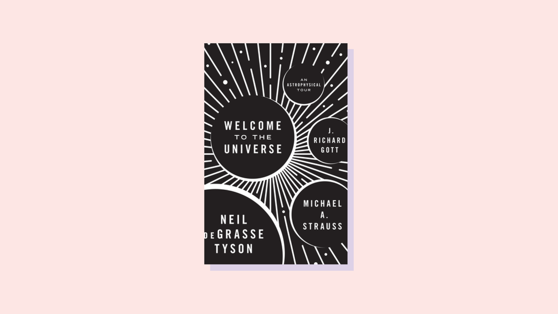 """""""Welcome to the universe"""" book cover by Neil DeGrasse Tyson"""
