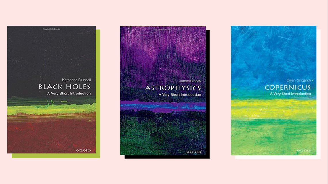 """Black Holes"" book cover, ""Astrophysics"" book cover, ""Copernicus"" book cover"