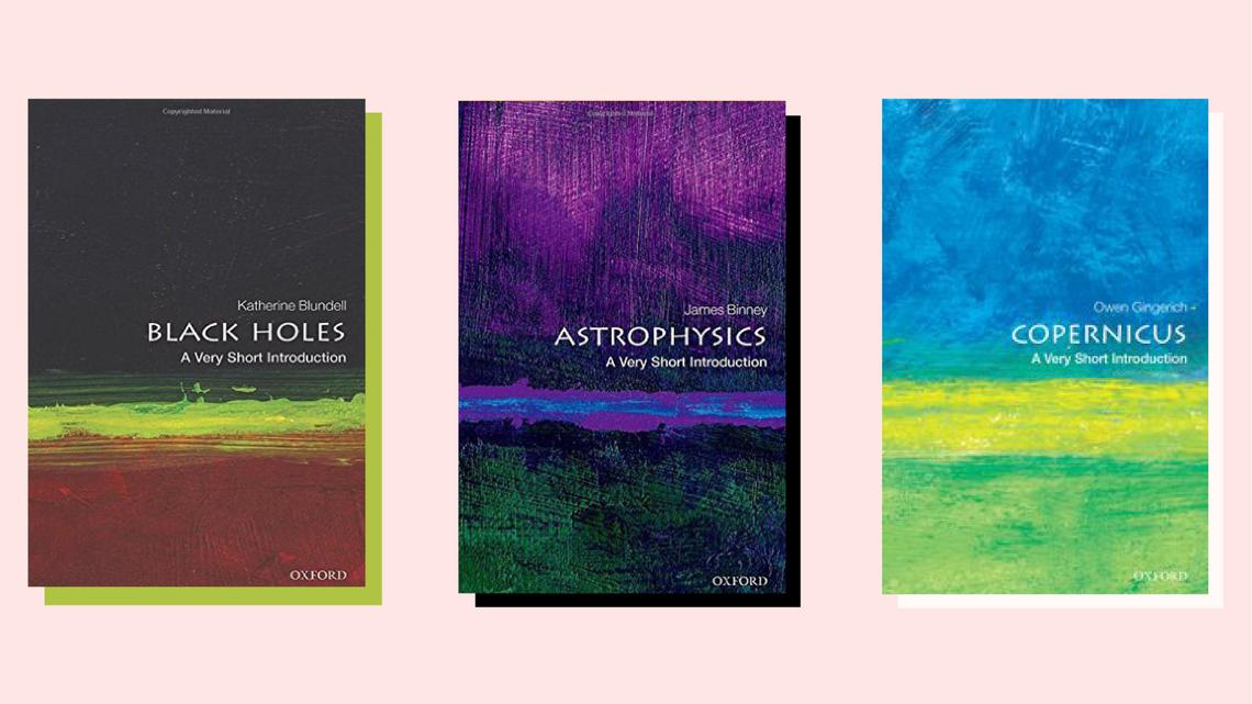 """Black Holes"" book cover, ""Astrophysics"" book cover, ""Copernicus"" book cover"