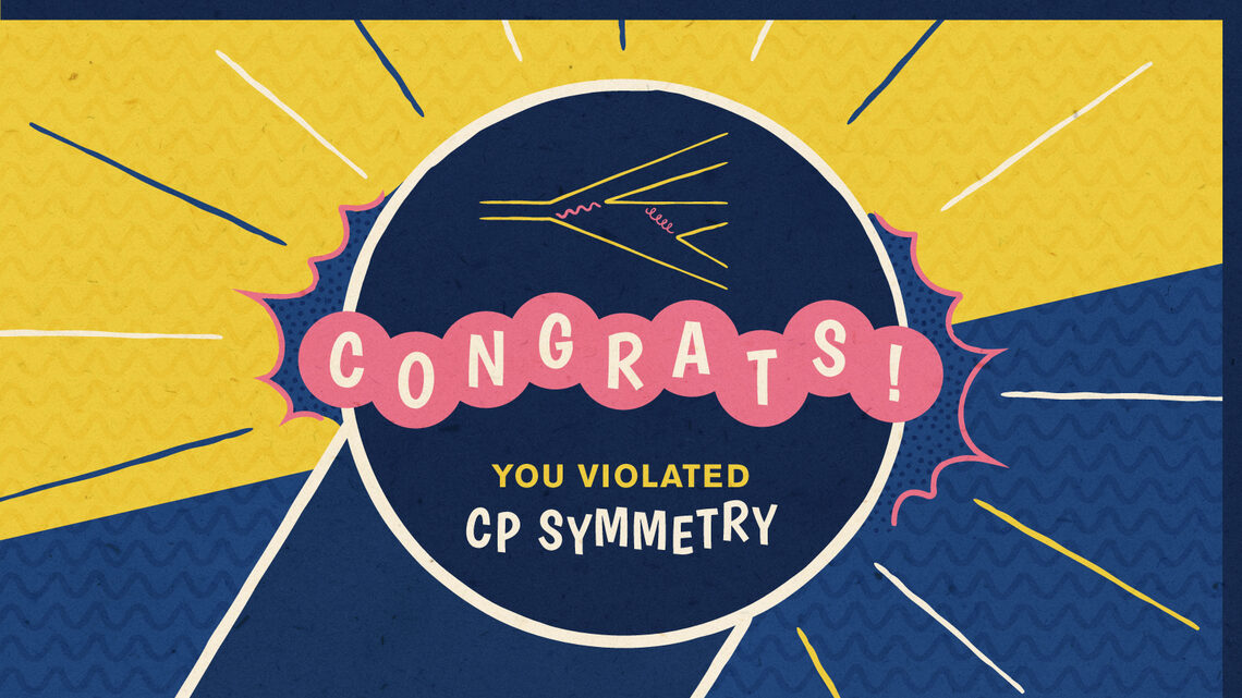 """Congrats! You violated CP symmetry."""
