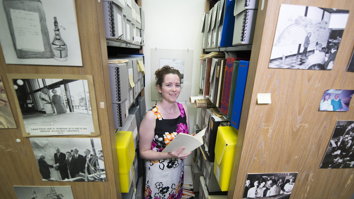 Valerie Higgins in the archives