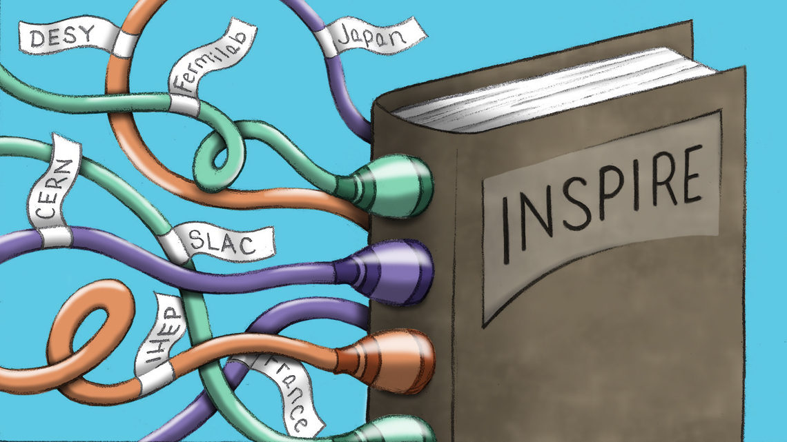 "Image of plugs of different labs plugged into spin of book ""Inspire"""