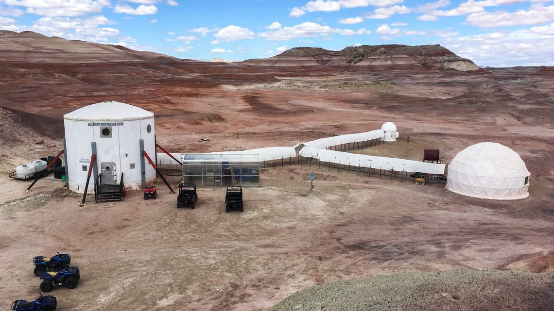 The exterior of the simulated martian base