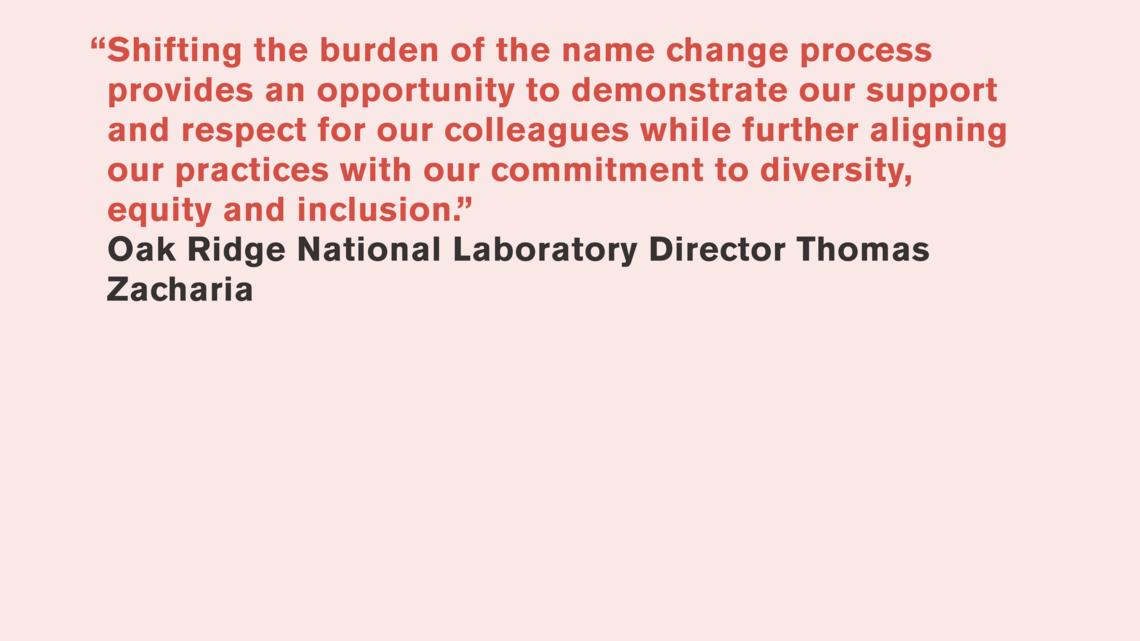 Thomas Zacharia, Oak Ridge National Laboratory