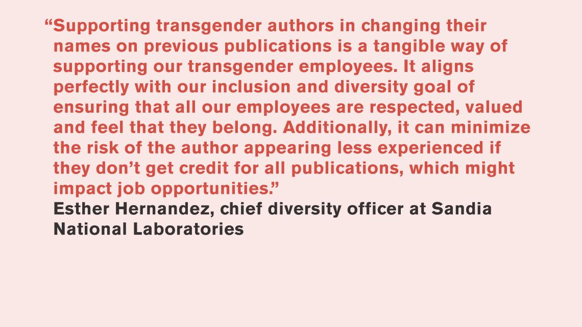 Esther Hernandez, Sandia National Laboratories