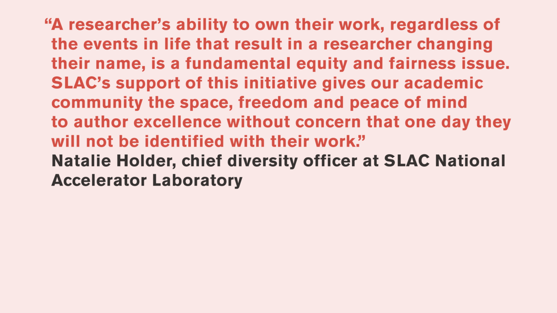 Natalie Holder, SLAC National Accelerator Laboratory
