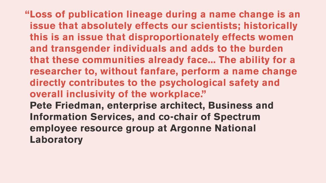 Pete Friedman, Argonne National Laboratory