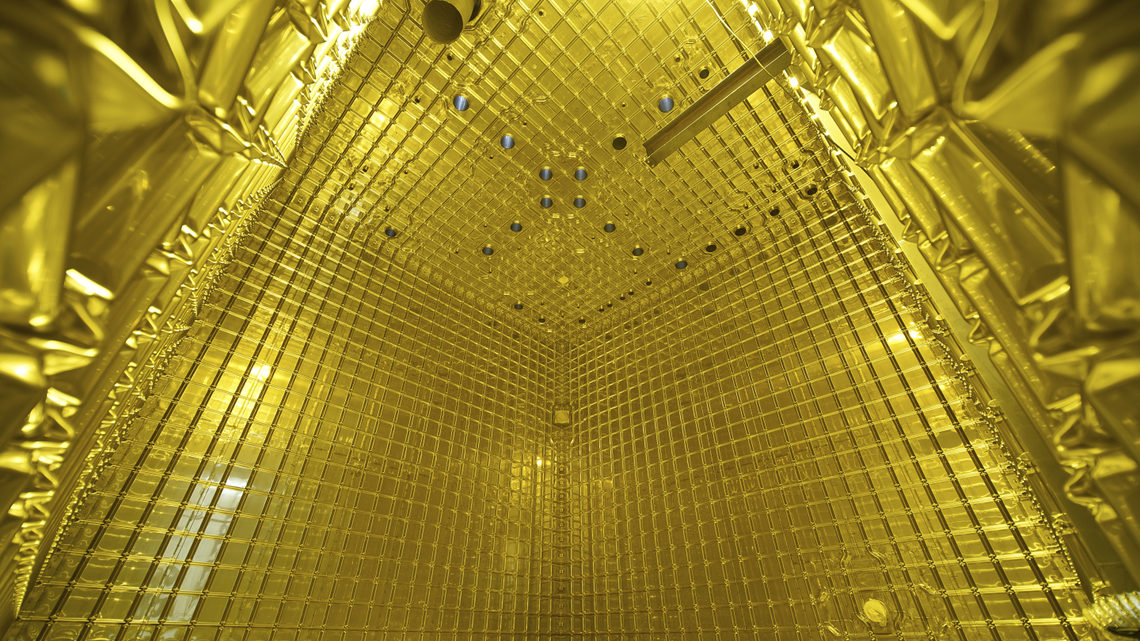 A view from inside the detector