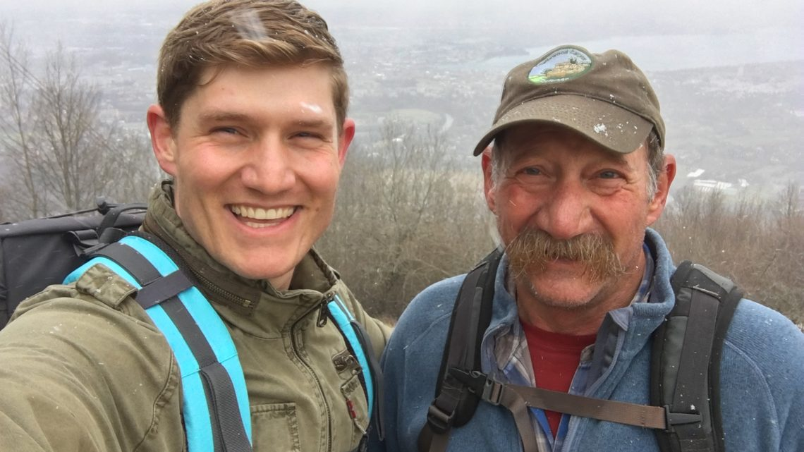 Pasner and his dad on a hike