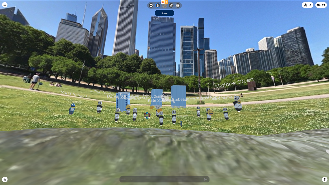 The COHERENT collaboration meets in the virtual Chicago outdoors