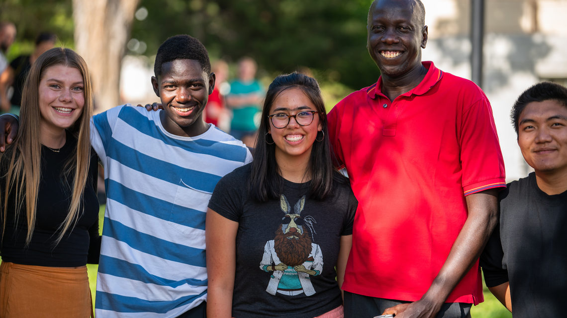 (Left to Right) Elle Roylance, Fred Okongo, Anahi Yerman, Tino, Victor Tuang