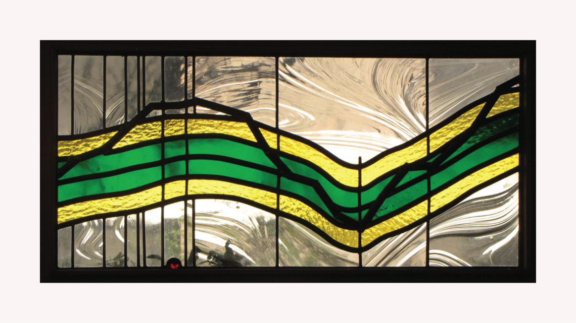Stained glass inspired by the Higgs boson