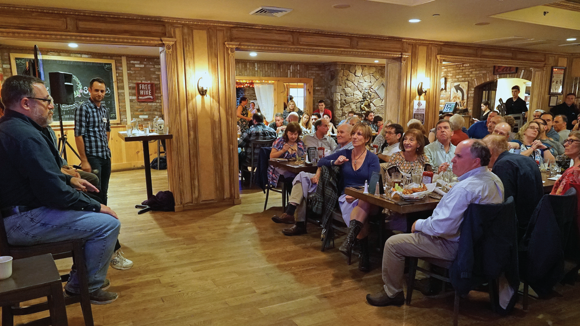 On October 24, Brookhaven Lab took three dark matter experts to a local bar for some lively conversation over food and drink.