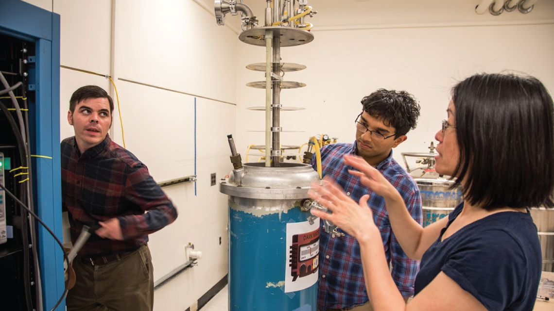 Fermilab team discussing a dark matter radio