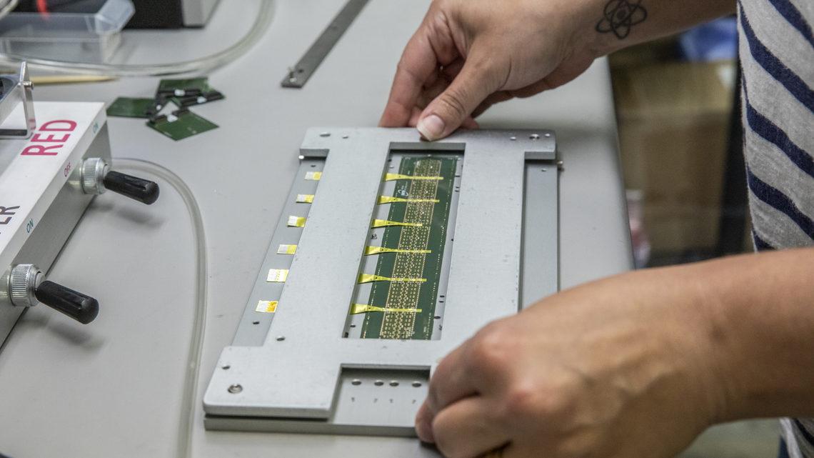 Nicole Apadula prepares silicon chip components
