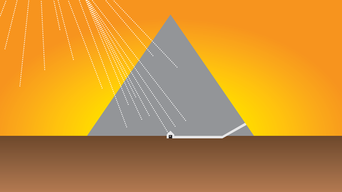 An illustration of an Egyptian pyramid