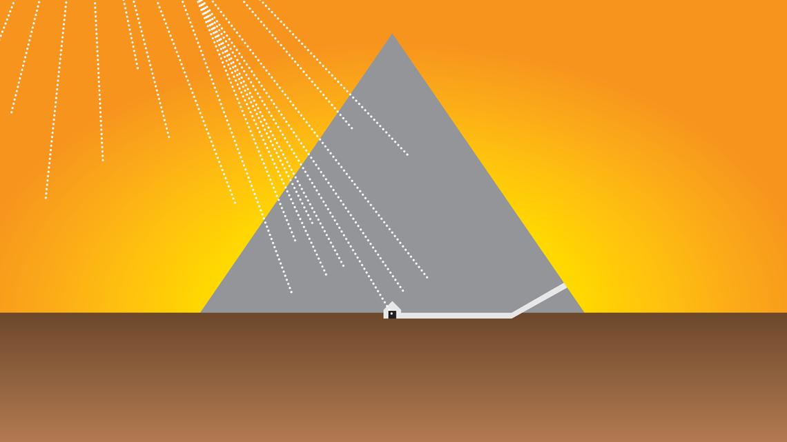 An illustration of an Egyptian pyramid