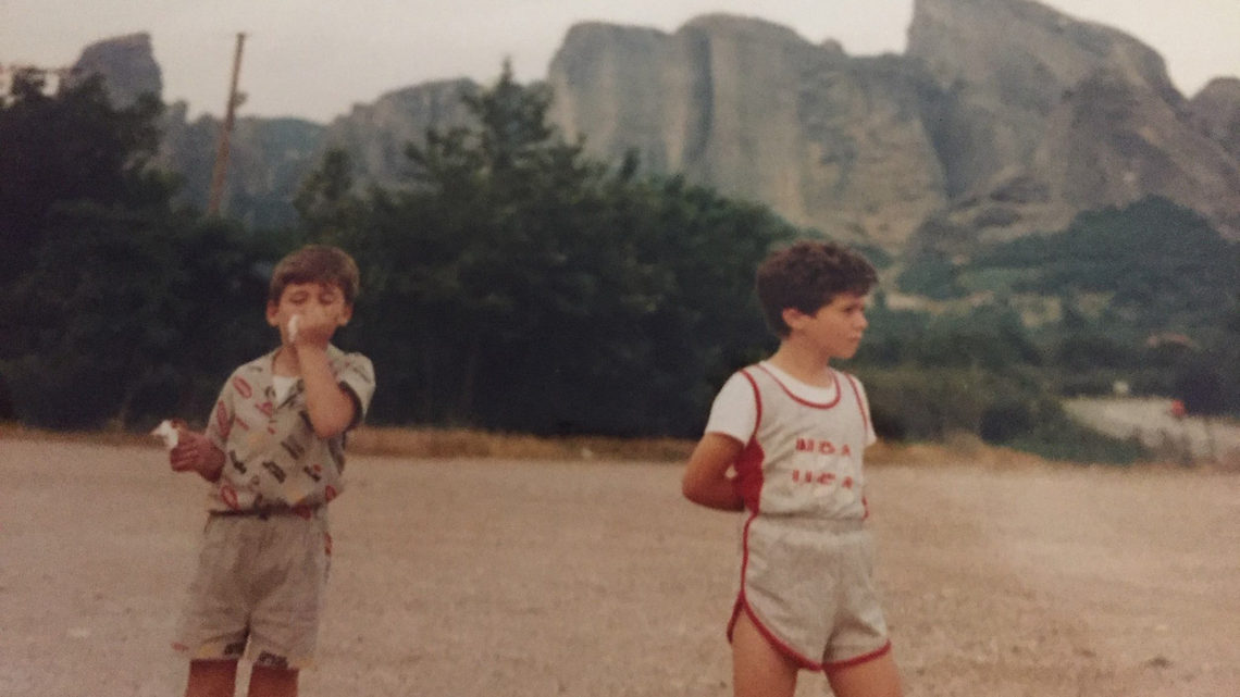 Konstantinos and George as young boys
