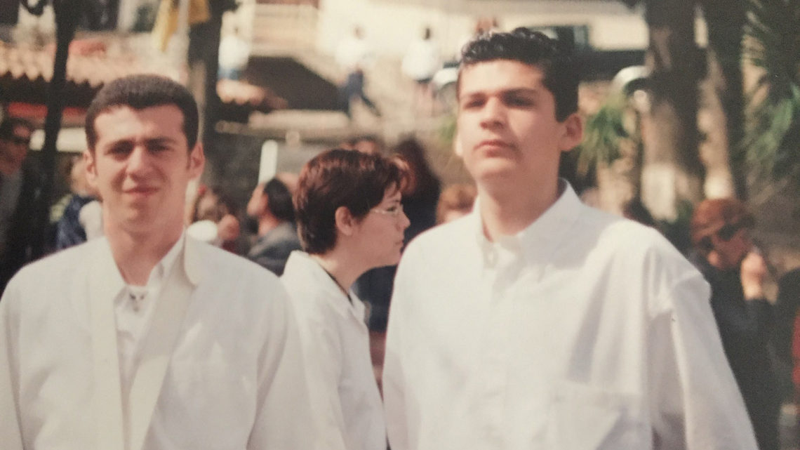 Konstantinos and George as young adults