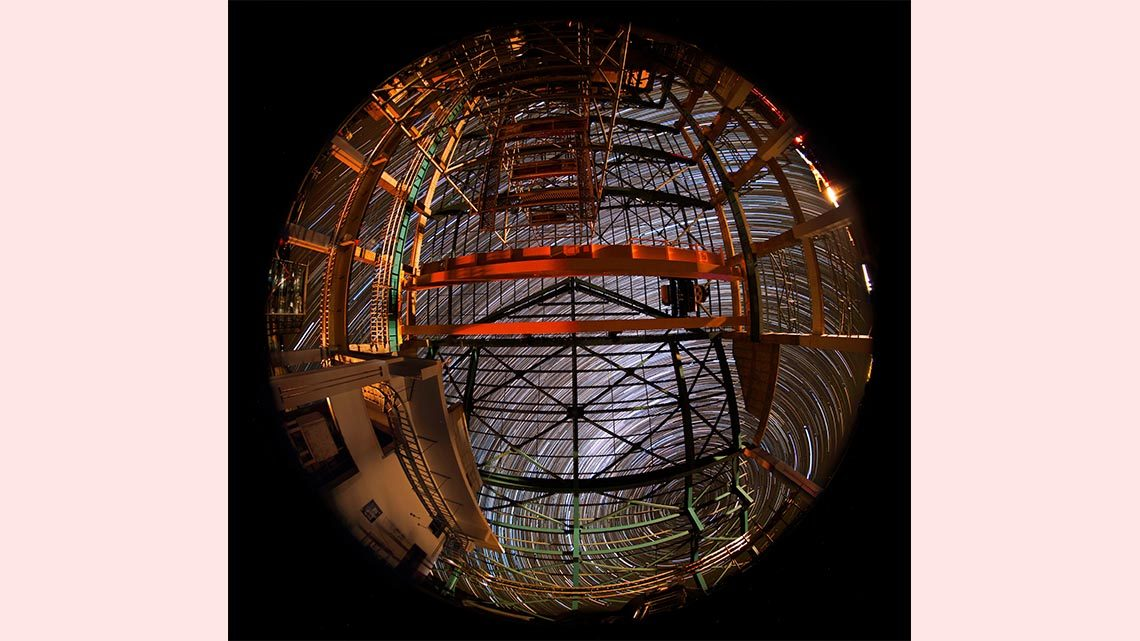 Long-exposure photograph of the stars from LSST construction site.