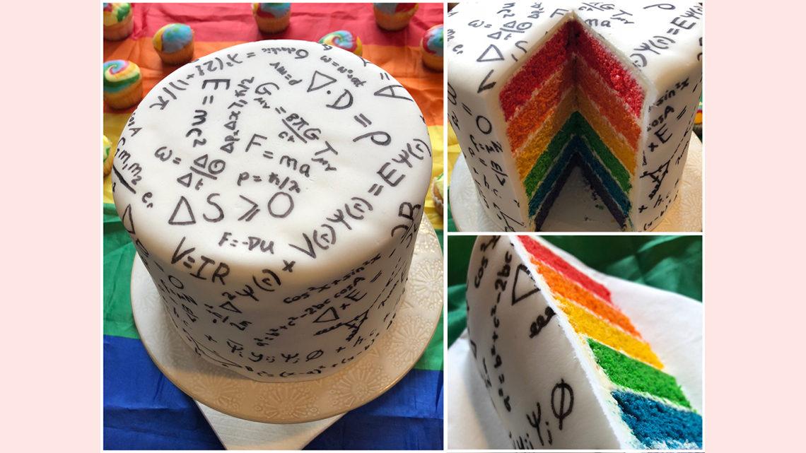 LGBTQ Stem Day cake