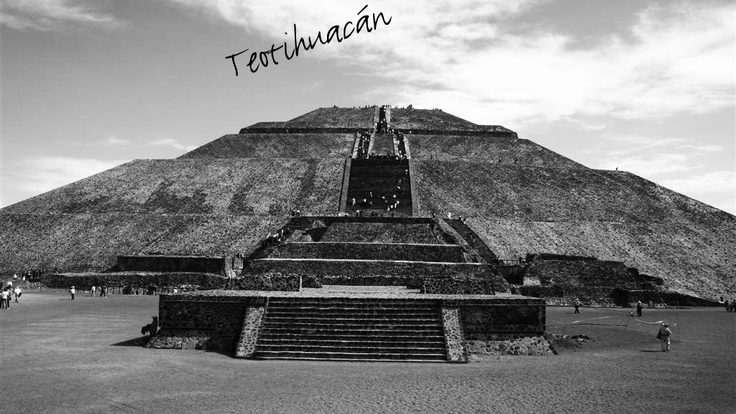 The pyramid at Teotihuacan