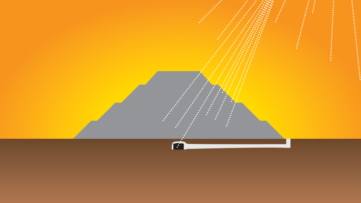 An illustration of the Pyramid of the Sun