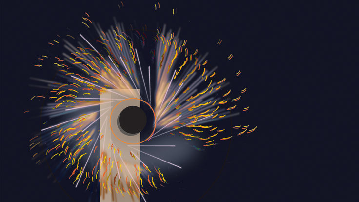 Illustration of Synchrotron Radiation