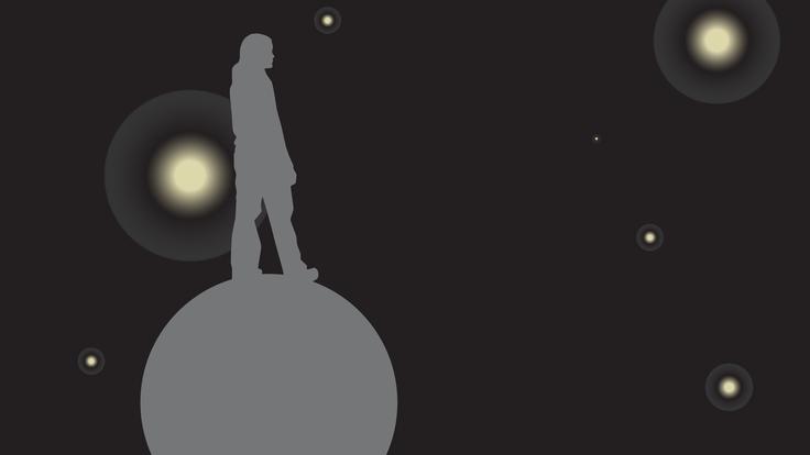 An illustration representing dark matter