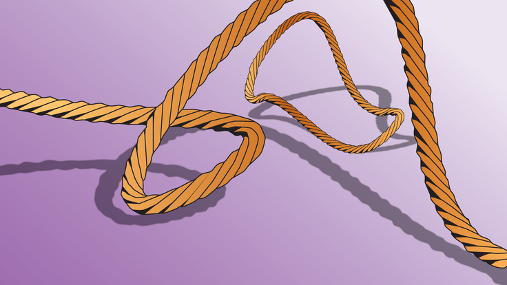 An illustration of twisting ropes