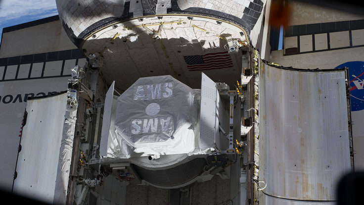 Photo of AMS on spaceship