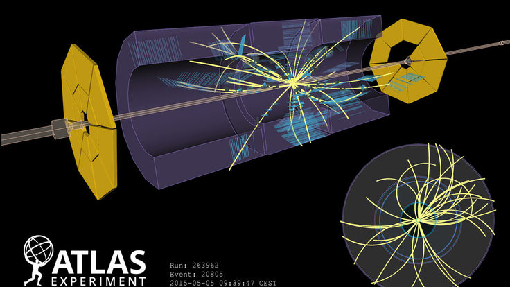 Image of First collision ATLAS