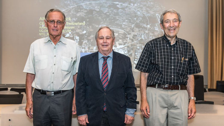 Photograph of the three winners of the breakthrough prize