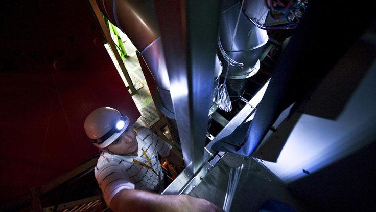Photo of CERN L3 magnet