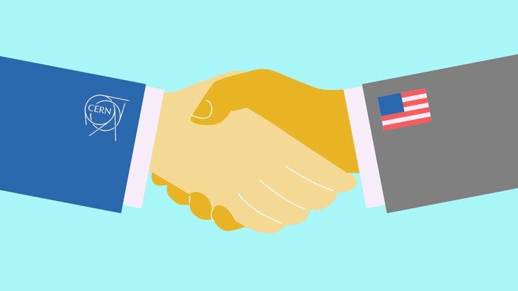 Image of CERN / US handshake