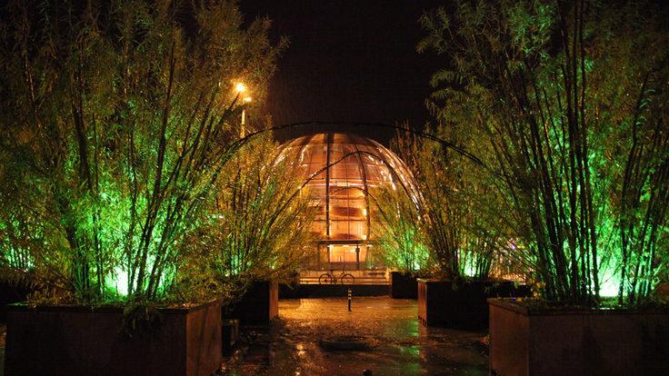 CERN Globe at night