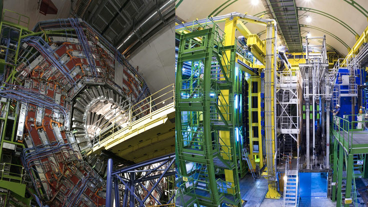 Photo: CMS and LHCb 2