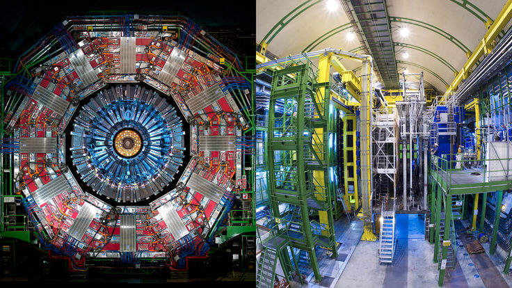 Photo of CMS and LHCb