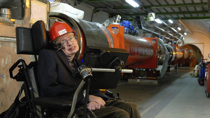 Photo of Stephen Hawking CERN