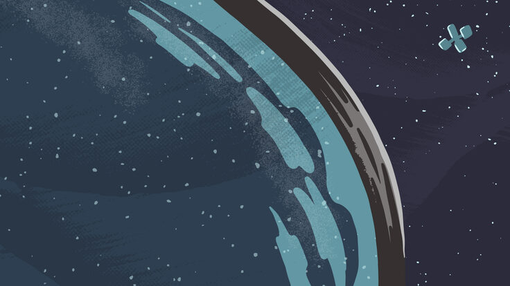 Illustration: Telescopes in space, telescopes on the ground
