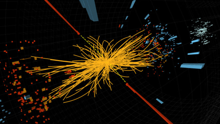 Image of CMS Higgs collision