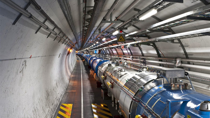 Photo of LHC tunnel