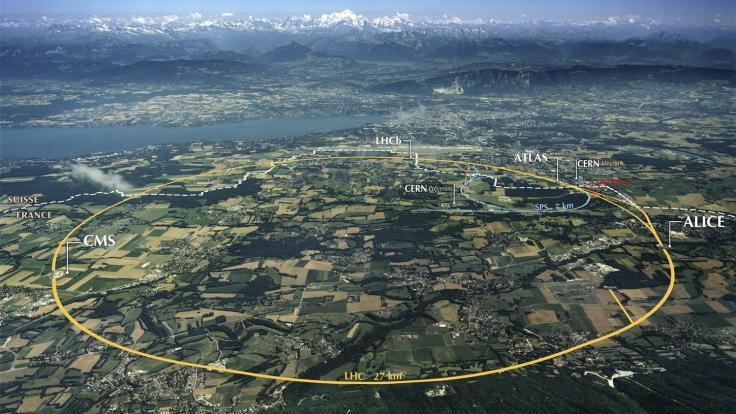 Photo of LHC map
