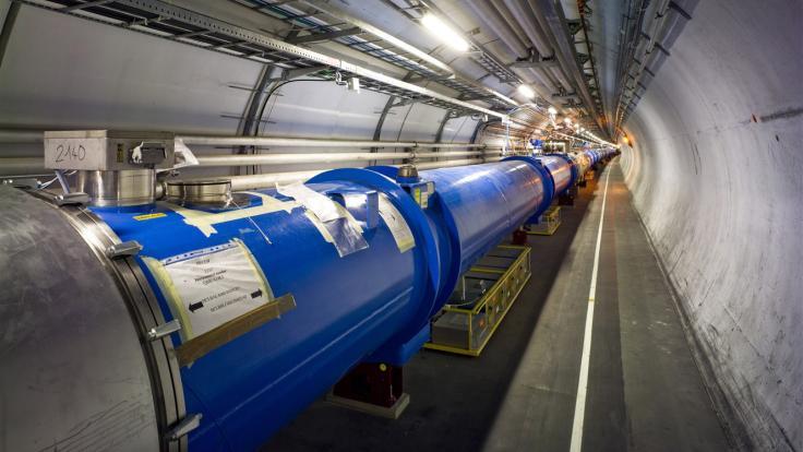 Photo of LHC tunnel