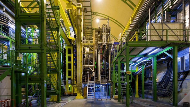 Photo of LHCb detector