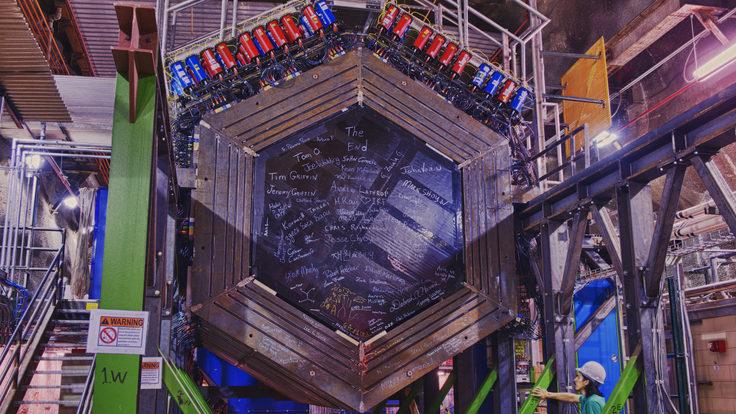 Photo: MINERvA detector