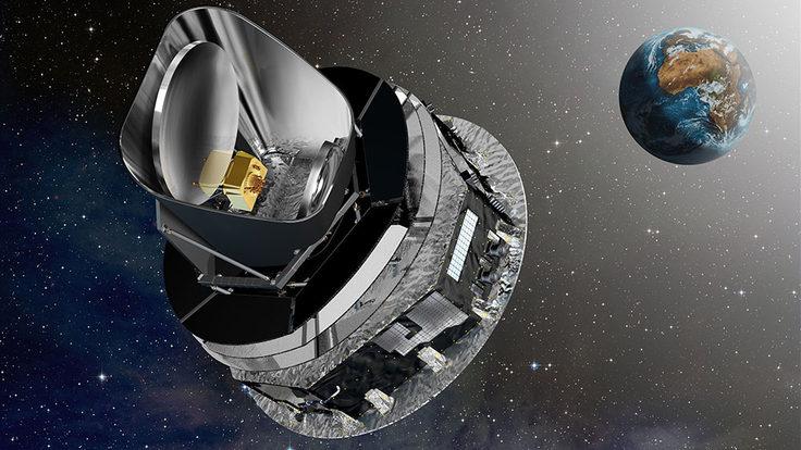 Image of Planck cruising to L2